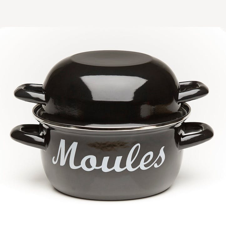 'Moules' Mussel Pot, Black