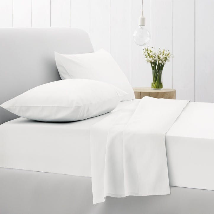 500tc Cotton Sateen King Size Quilt Cover, Snow