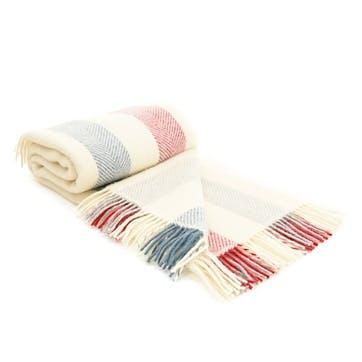Stripe Blanket, Berry