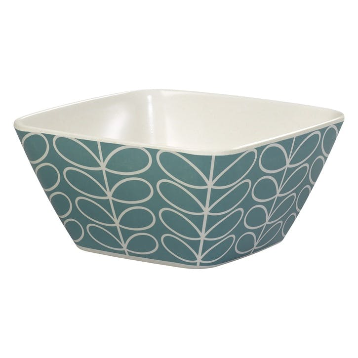Bamboo Bowl, Linear Blue
