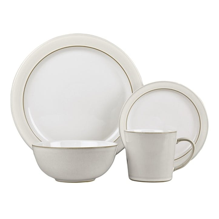 Natural Canvas 16 Piece Tableware Set, Cream