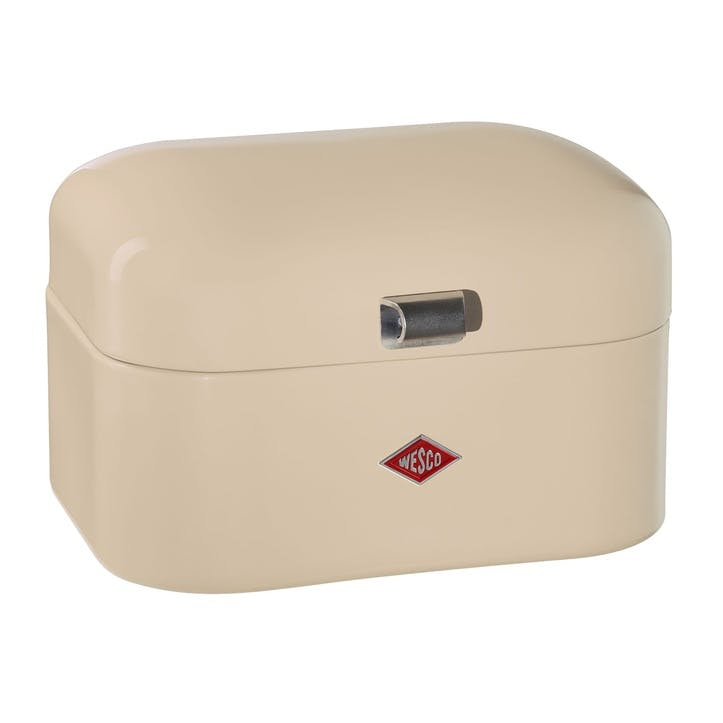 Single Grandy Bread Bin, Almond
