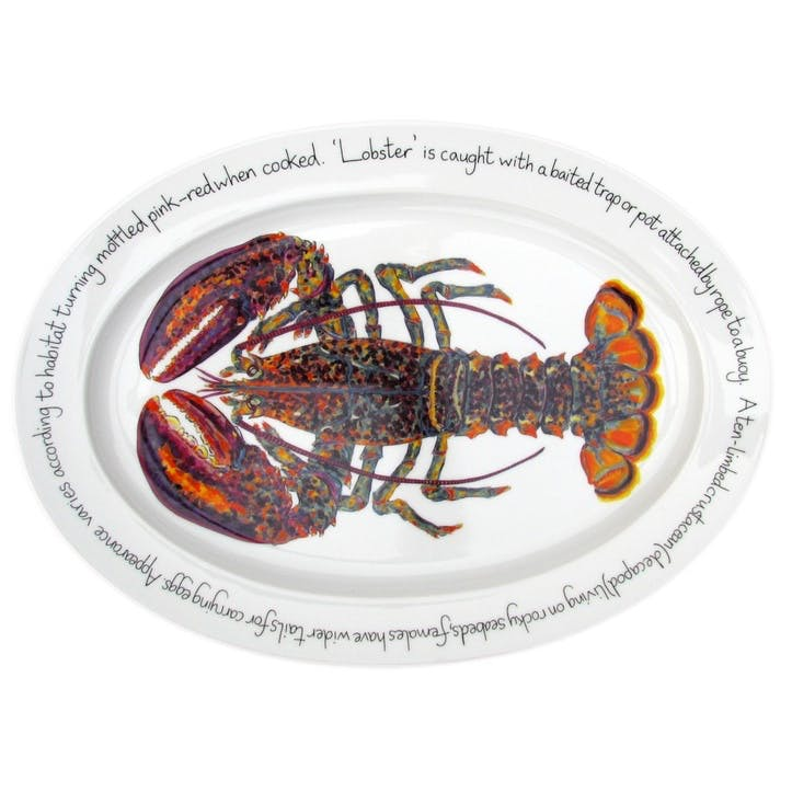 North American Lobster Oval Plate - 39cm