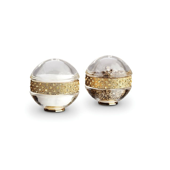 Pave Band Salt & Pepper Shakers