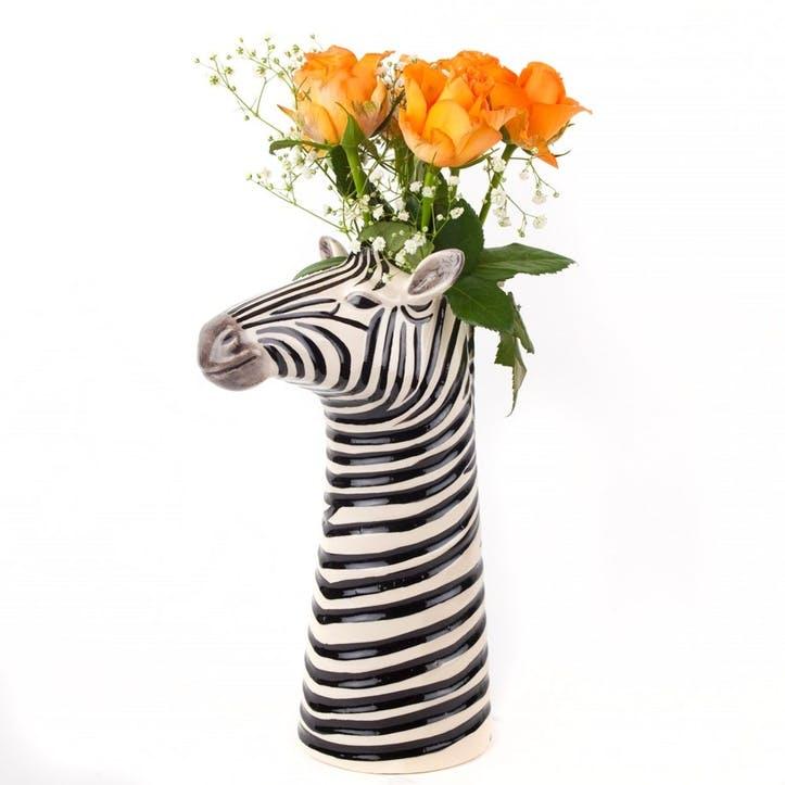Zebra Flower Vase, H26cm