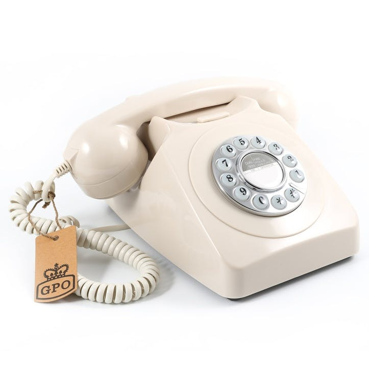 746 Push Button Telephone; Ivory