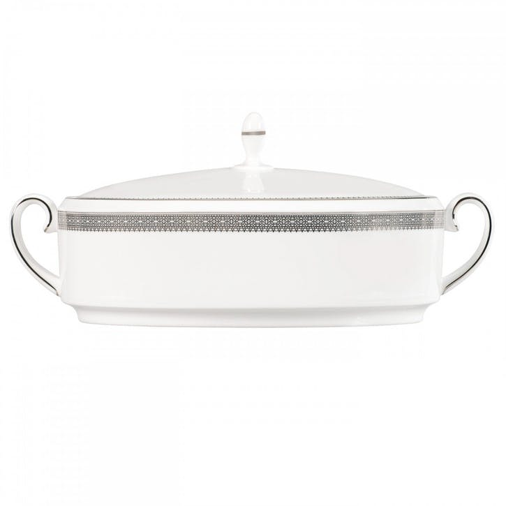 Lace Platinum Lidded Dish