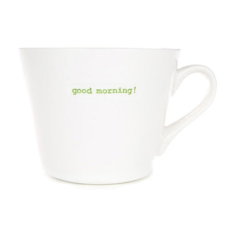 'Good morning!' Bucket Mug, 350ml
