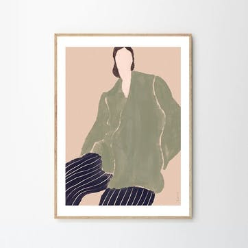 Kvinde Gron - Laura Nielsen Art Print D30cm x H40cm
