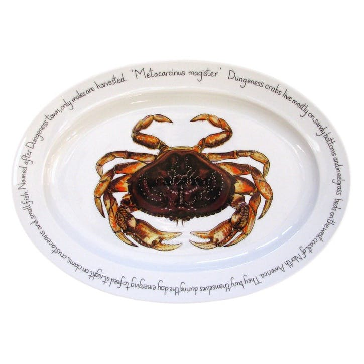 Dungeness Crab Oval Plate - 39cm