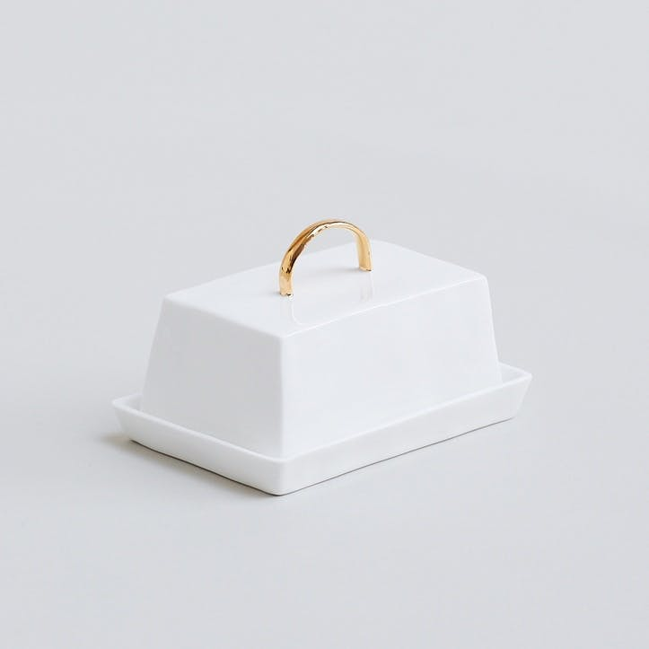 Gold Butter Dish