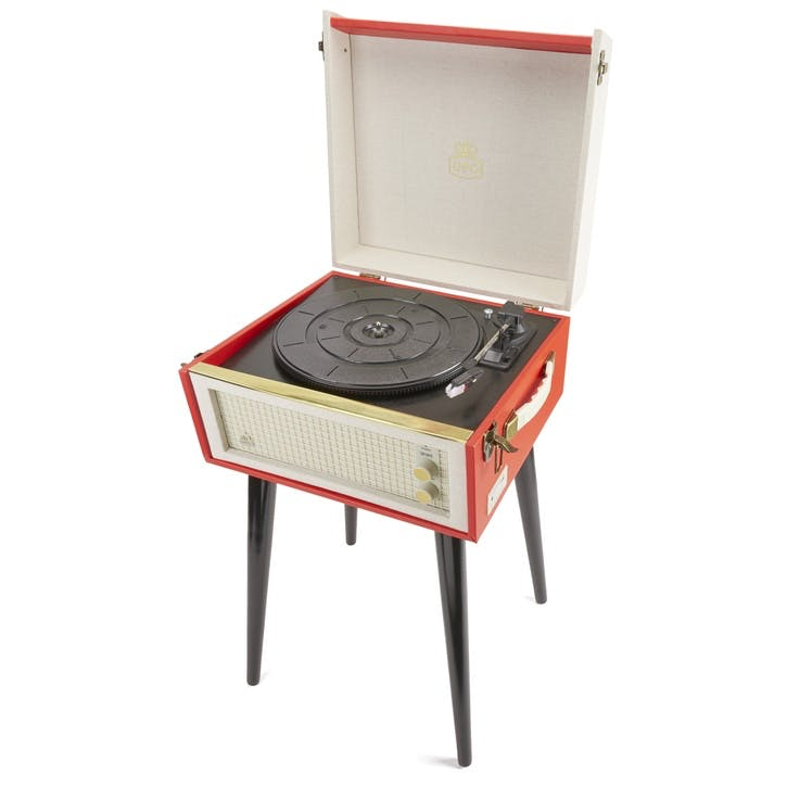 Bermuda Turntable; Red & Cream