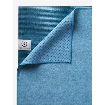 The Grippy Yoga Mat Towel, Ocean Green