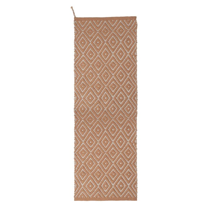 Upcycled Plastic Indoor/Outdoor Woven Rug, Terracotta