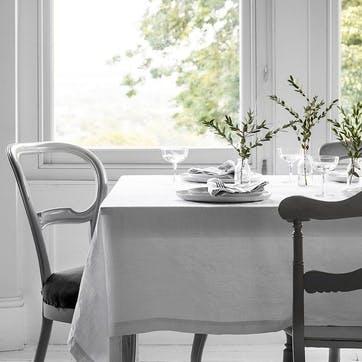 Mitered Hem Tablecloth, White, 150 x 230cm