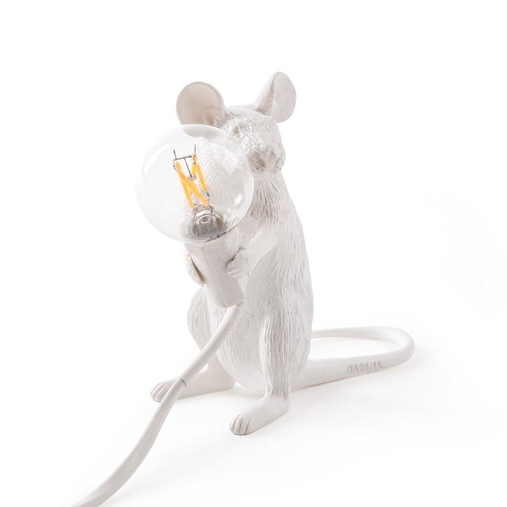 Mouse Lamp, Sitting White