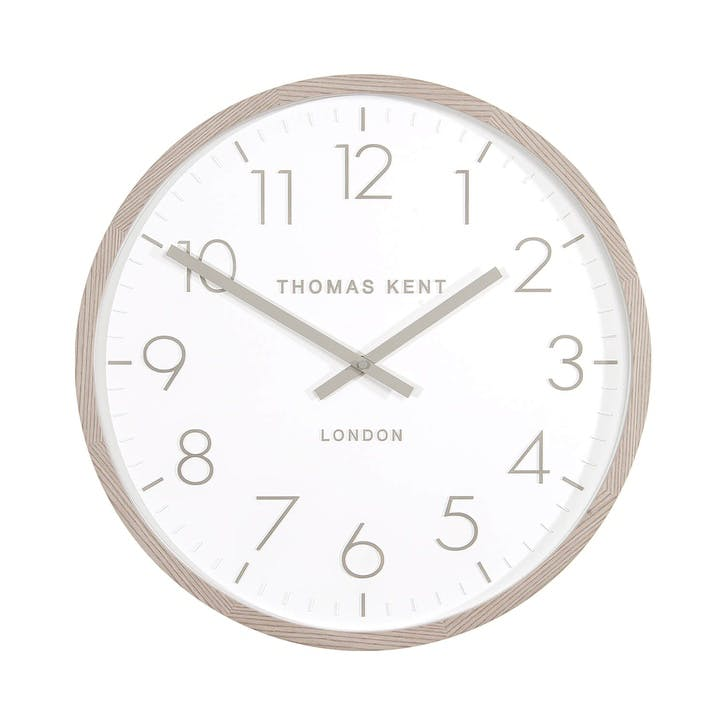 Clifton Clock, 46cm, Light Oak