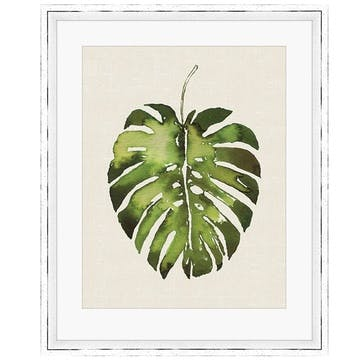 Summer Thornton Tropical Leaf I Monstera Framed Print, 55 x 45cm