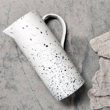 Ama Splatter Jug H18.5cm, White/Black