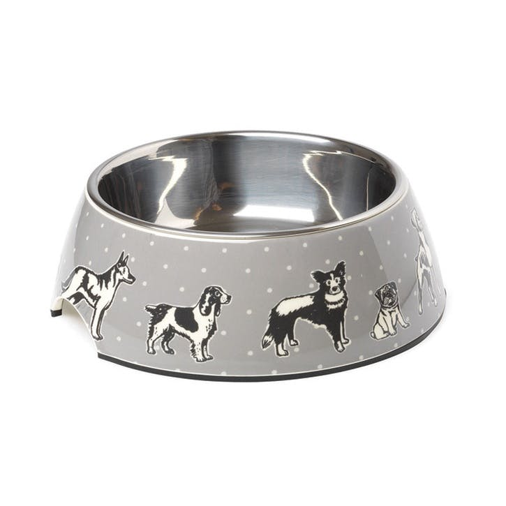 House Of Paws Polka Dogs Print Bowl - Large