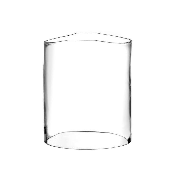 Rene Hurricane Vase, Large, Clear