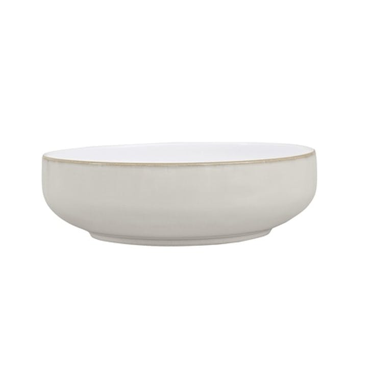 Natural Canvas Serving Bowl, 24cm, Cream