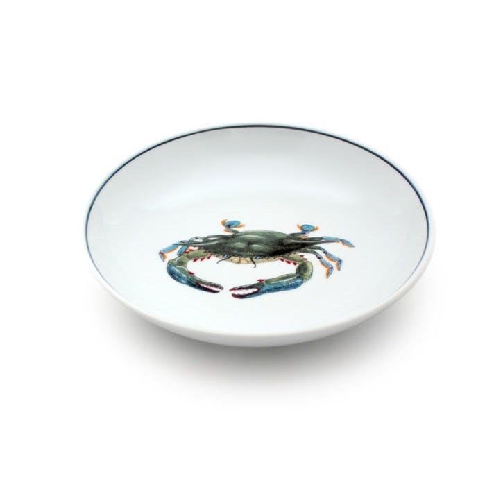 Seaflower Blue Crab Salad Bowl, 19cm, Blue