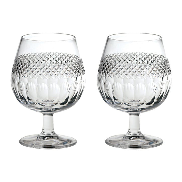 Diamonds Crystal Brandy Glasses, Set of 2