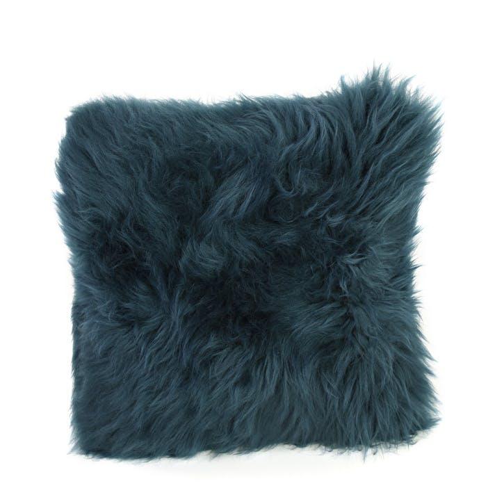 Baa Stool Square Cushion, 45cm x 45cm, Teal