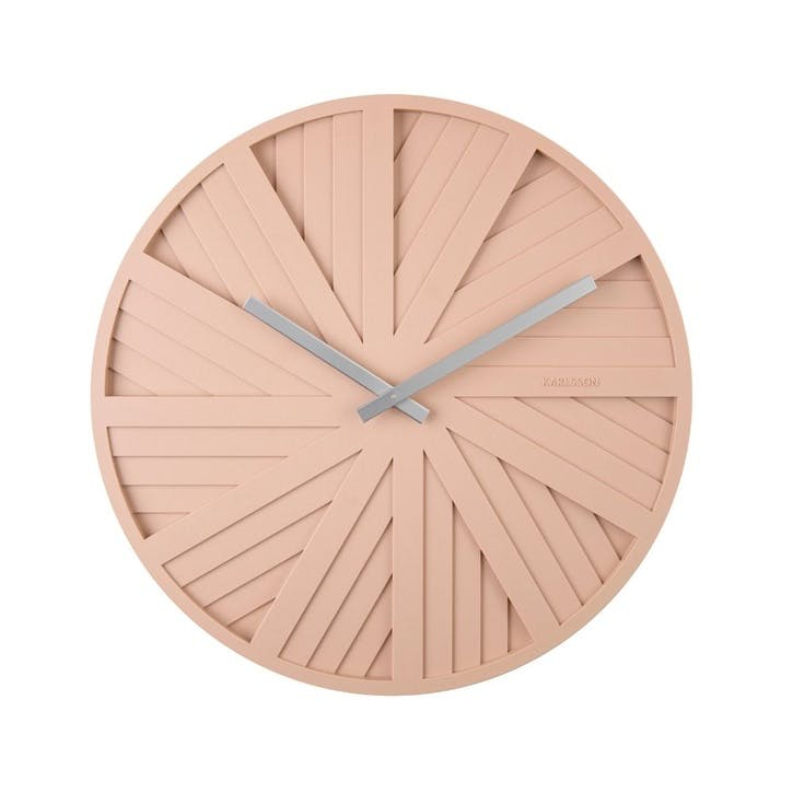 Slides Wall Clock, Blush