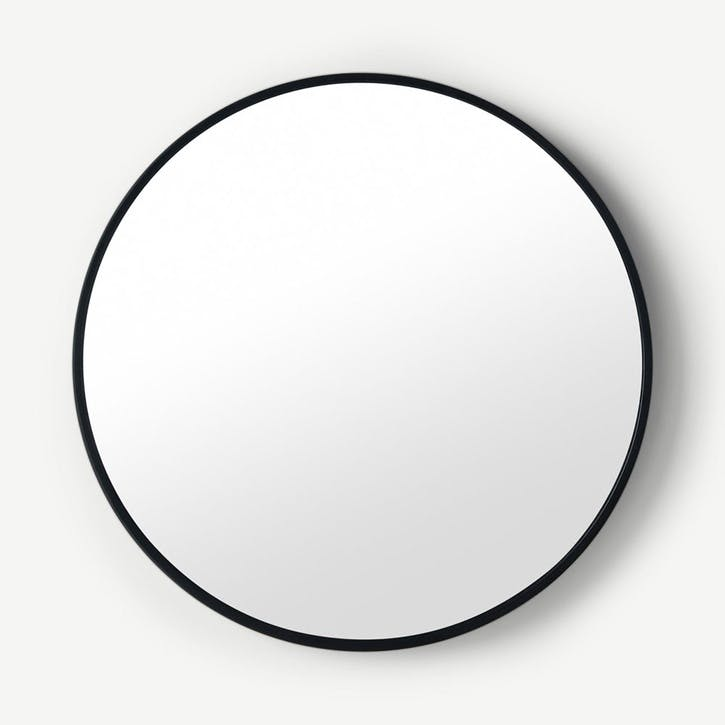 Bex, Round Mirror, Large, Black