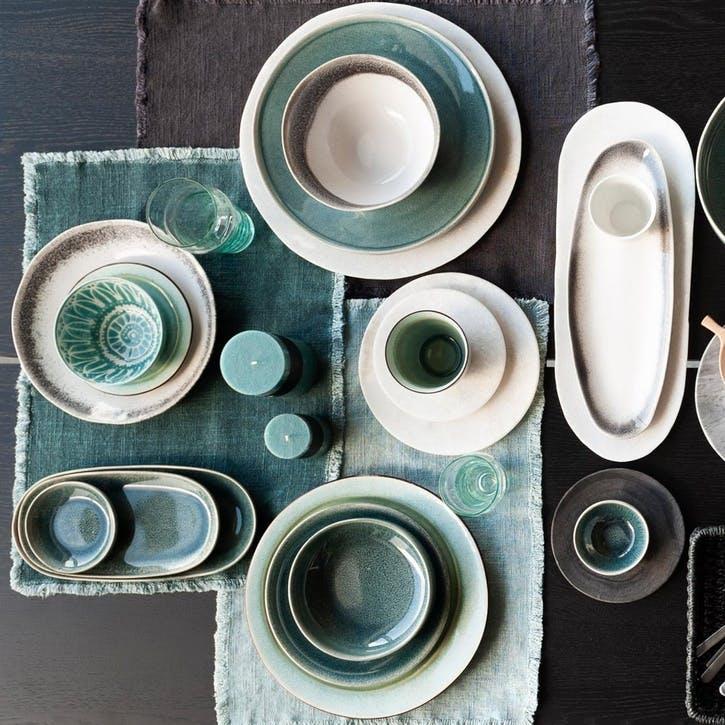 Bude Dinner Plate, Set of 4, Blue