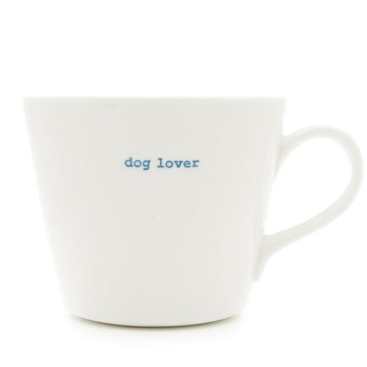 'Dog Lover' Bucket Mug, 350ml