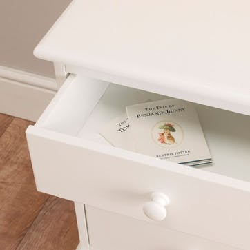 Classic Bedside Table, White