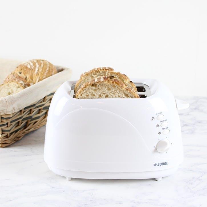 2 Slice Toaster, White