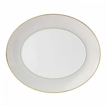 Arris White Oval Serving Dish