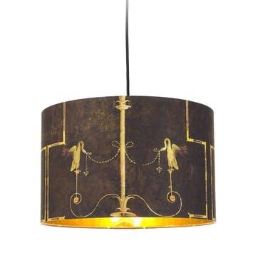 The Swan Drum Pendant Lamp, Anthracite