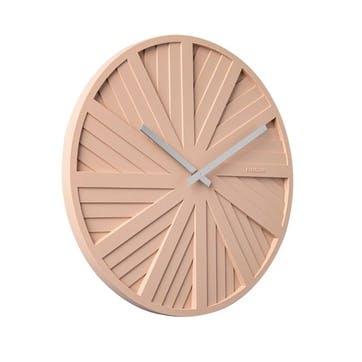 Slides Wall Clock, Blush