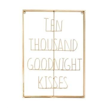 Ten Thousand Goodnight Kisses Metal Word Art