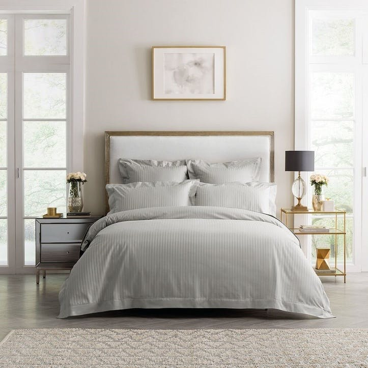 1200TC Millennia Quilt Cover, Double, Silver