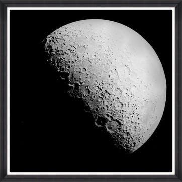The Moon Black Framed Print,90 x 90cm