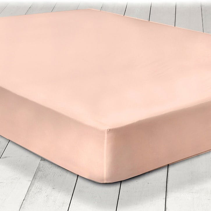 Pure Fitted Sheet, Double, Blush