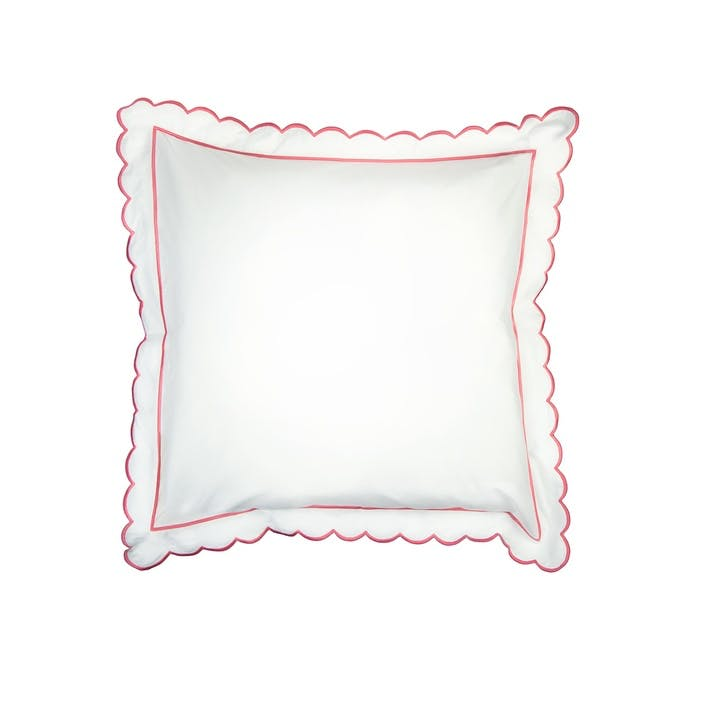 Coral Scalloped Square Pillowcase