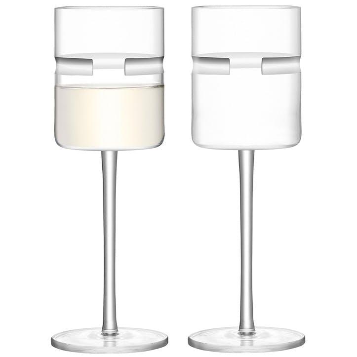 Horizon White Wine Glasses, Set of 2