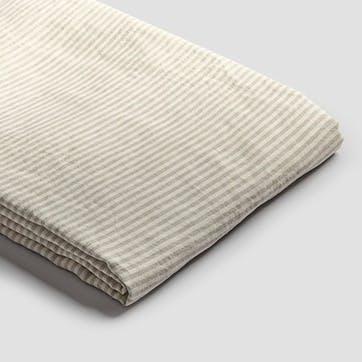 Super King Duvet Cover, Oatmeal Stripe