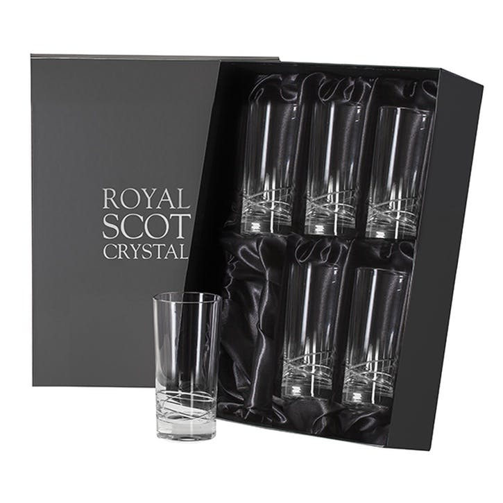 Skye Tall Crystal Tumblers, Set of 6