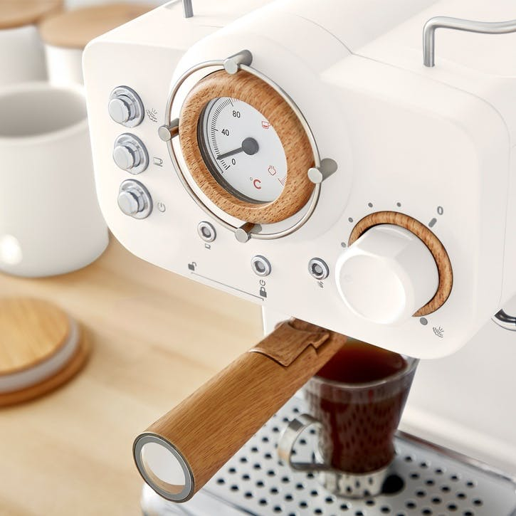 Nordic Espresso Machine, Cotton White