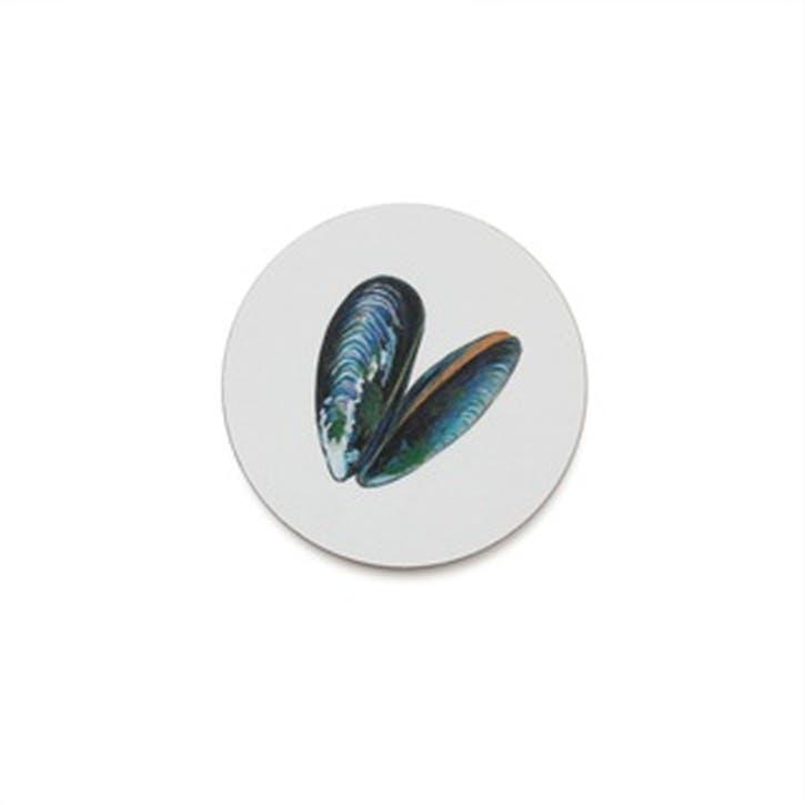 Seaflower Mussel Coaster, 10cm, Multi