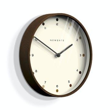 Mr Clarke Wall Clock, Dia. 40cm, Dark Plywood