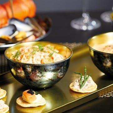 Serving Platter Set with Three Bowls